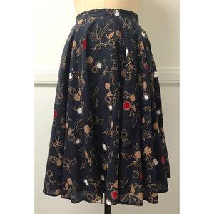 Trashy Diva Sketchy Cherries Circle Skirt in XS